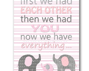 Pink Gray Kids Wall Art Kids Art Baby Girl Nursery Quotes Instant Download Digital Baby Room Decor Printable Art Digital Download 8x10 11X14