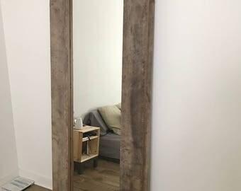 Modern Oak Mirror