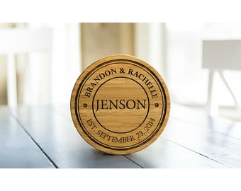 Personalized Solid Bamboo Trivets - 1 Trivet - Jenson Style