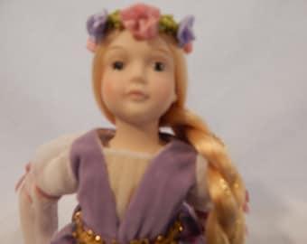 """Vintage Avon """"Rapunzel"""" Porcelain Doll Fairy Tale Doll Collection"""