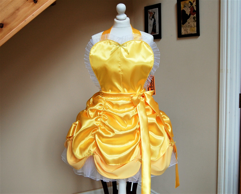 White apron belle - Princess Apron Belle Apron Cosplay Apron