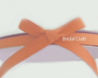 "Peach 1/4"" Grosgrain Ribbon 25 yards"