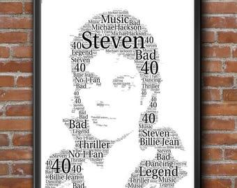 Michael Jackson Print Realistic Pastel Drawing 18x24