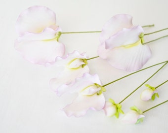 Purple Sweet Pea Sugar Flowers