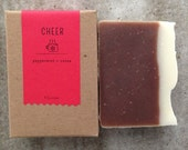 Cheer Peppermint + Cocoa Soap | All Natural Soap | Handmade Soap | Holiday Soap