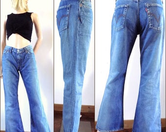 Bell bottom jeans | Etsy