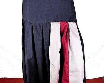 Black SKIRT large size maxi skirt, cotton long skirt, size 48 to 62