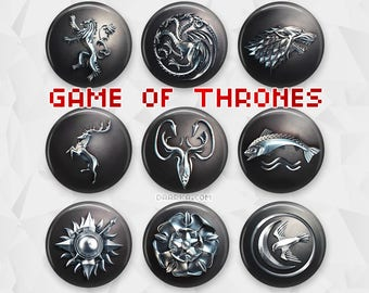 Game of Thrones House Crests (Pin-Back Buttons)