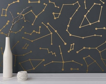 Constellation Wall Decals - Star Decals, Modern Wall Decals, Star Wall Stickers, Unique Wall Decor
