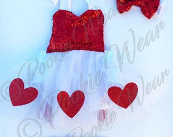 Baby romper, valentine outfit, cupid outfit, baby girl valentine outfit, valentine romper, girls valentine outfit