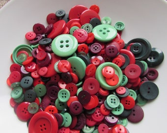 Christmas Colour Button Assortment