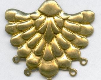 Vintage stamped brass chandelier 32mm pkg of 1. b9-0936(e)