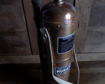 French vintage Muratori of Paris, high pressure/ pulverisateaur liquid sprayer copper tank, with brass fittings from around 1930.
