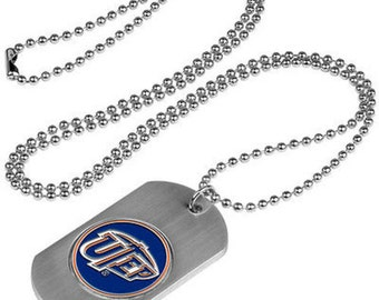 UTEP Miners Stainless Steel Dog Tag Necklace