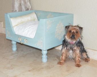 Robin Egg Blue Drawer Bed - Shabby Chic Design
