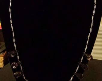 Twelve Purple Tear Drop Necklace