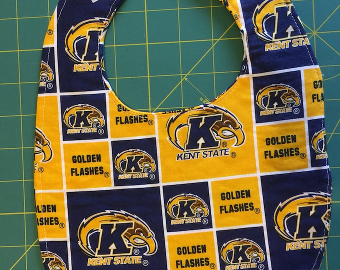 Baby Bib Kent State Inspired Fabric, Available in 2 Sizes!!