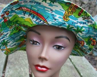 Children's Hawaiian hat floppy sun hat me ke aloha