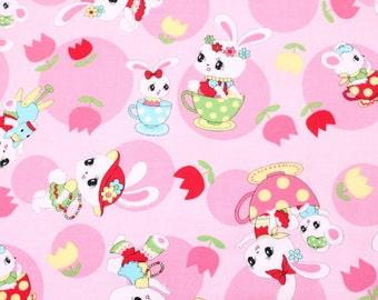 fat eighth, fat quarter, 1/2 meters / Japanese fabric / kawaii fabric / retro fabric / kitch fabric / bunny fabric / spring fabric /