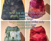 2 xlg dog shirts roygbiv style