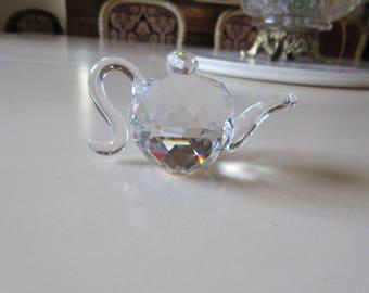 ART GLASS TEAPOT Paperweight