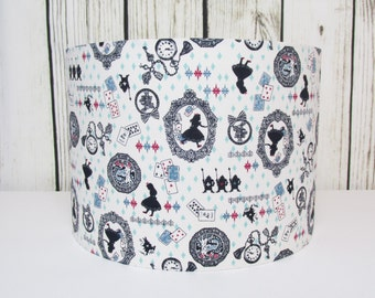 Alice in Wonderland Lampshade Blue