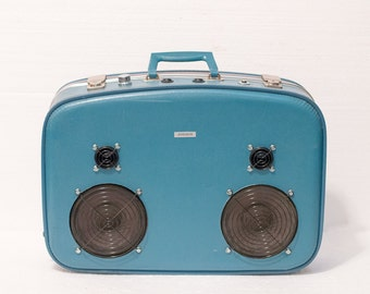 The Blue Bowler 150 Watt Bluetooth Suitcase Boombox