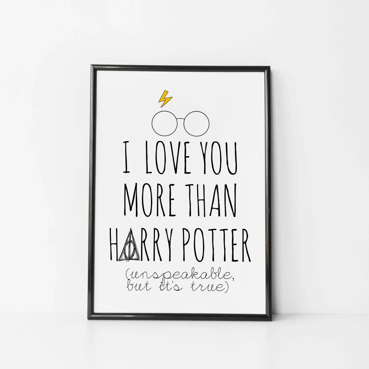 Harry Potter Quotes Love: Harry Potter Gift Harry Potter Wall Art Harry Potter Quote