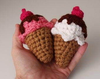 Super Mini Crochet Ice Cream Cone Food Plushy