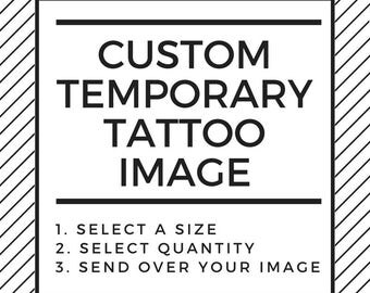 Custom Image Temporary Tattoo, Custom Image Tattoo, Temporary Tattoo Custom, Small Temporary Tattoo, Wedding Gift, Personalized Tattoo