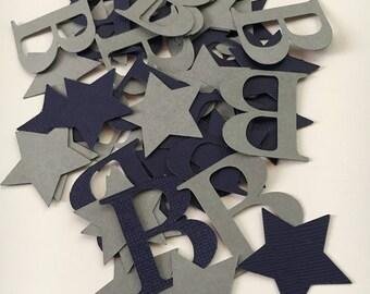 200 Letter and Star Confetti | Table Decor | Custom Confetti