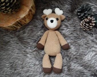 Toru the deer crochet amigurumi doll