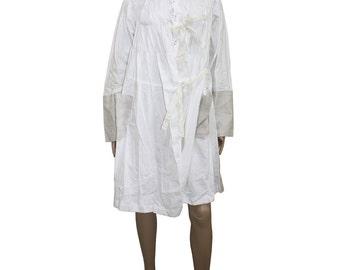 Tricot Comme des Garcons Vintage White Mix Structured Coat