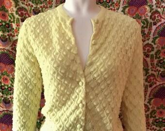 1960s British Vogue Cardigan Sweater
