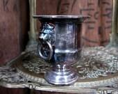Silver Vase Small Vase Stem Vase Silver Bud Vase Made In England Viners Vase Silver Posy Vase Vintage Vase Lion Head Handles