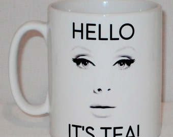 Hello It's Tea Mug Can Be Personalised Funny Adele Fan Singer Music Parody Gift