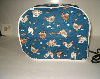 Toaster Cover, 2 Slice, Chickens.