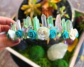 Crystal Crown, Spring Tiara, Festival crown