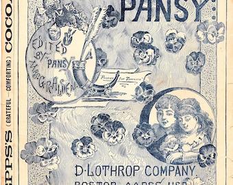 The Pansy October, 1888 Americana Magazine Scarce!