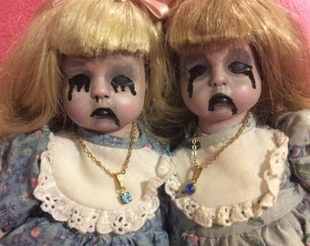 Horror doll, conjoined twins