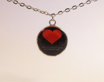 Undertale Soft Heart~DETERMINATION, Round Necklace