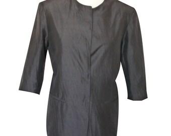 DANIEL HECHTER - vintage jacket dressed in silk - women - size 42FR