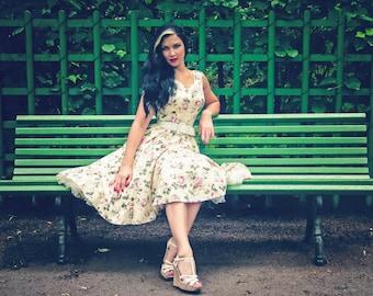Vintage Rose Bridesmaid Dress Floral Bridesmaid Dress Floral Dress Pin Up Dress Prom Dress Swing Summer Dress Holiday Dress Plus Size Dress