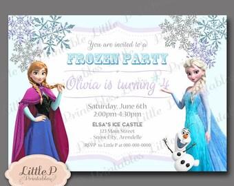 Frozen Invitation. Frozen Birthday Invitation. Frozen Party Invitation. Frozen Invites. Elsa Invitation. Anna Invitations 040 Purple