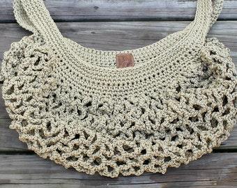 Boho Market Bag // Crochet // Handmade // The Roving Nomad