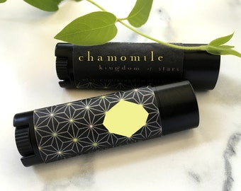 Chamomile Vegan Lip Balm Natural Lip Balm All Natural Pure EO 100% Natural hand made