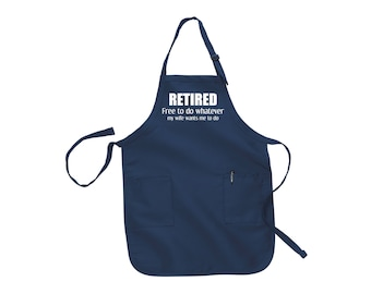 Retirement gift for man retirement gifts retirment personalized retirement gifts Funny aprons for men mens apron grilling apron husband gift