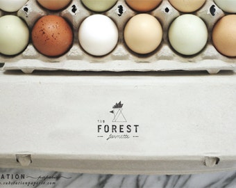 The Original Geometric Chicken Stamp - Fresh Eggs Stamp - Egg Carton Stamp - Packaging - Farm Stand - Farm Fresh Eggs - Modern Chicken