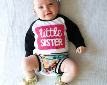 Little Sister Shirt - Big Sister Outfit - Pregnancy Announcement Shirt - Pregnancy Announcement - Birth Announcement - Baby Shower Gift