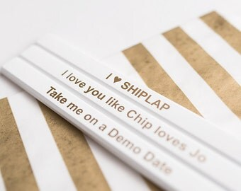 Farmhouse Style, Shabby Chic, Pencil Set, Shiplap Home, Farmhouse Reno, Demo Date, Gift for Builder, Renovation Party, DIY Home, Gifts for 5
